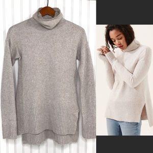 Lou & Grey Funnel Neck Knit Wool Blend Sweater Sm
